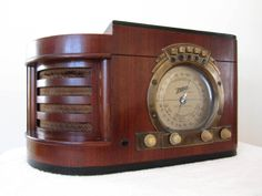 Vintage 1930s Old Zenith Large Dial Art Deco Depression Era Antique Tube Radio | eBay