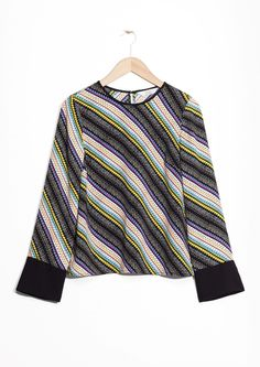 & Other Stories image 1 of Flared Sleeve Blouse  in Multicolour