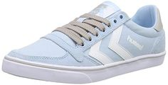 hummel SLIMMER STADIL MONO LO, Unisex-Erwachsene Sneakers, Blau (Cool Blue 8601), 36 EU