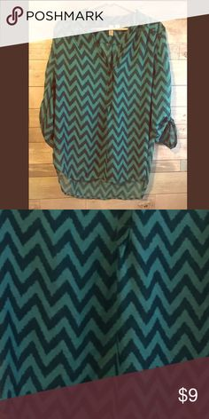 NWOT !! Tacera Chevron Shirt✨ Only worn a few times super great condition! Tacera Dresses