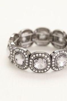 Square Pave Stretch Bracelet Style 136980b