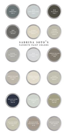 Sabrina Soto's Favorite Paint Colors and tips about sheen finishes (via CASA & Company)