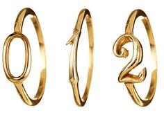 Lulu Frost Code 14K Gold Ring #0-9