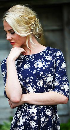 Modest, Chloe Dress Blue, perfect for sister missionaries, slender wrap around dress. modest dresses, LDS modest dresses, modest dress, modest clothing, modest clothes, modest prom dress