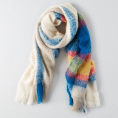 AE fuzzy scarf Brand new. Super warm and cute. American Eagle Outfitters Accessories Scarves & Wraps