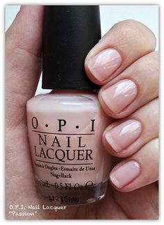 I'm obsessed with O.P.I. Passion!!! This clear coat gives your nails an ever-so-slightly natural pink shine! Beautiful!!!!!
