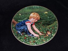 "1983 Stuart Int'l Childhood Secrets ""Billy's Treasure"" Collector Plate by Nancy…"