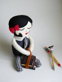 Mademoiselle Colette Doll by thatgirl99 on Etsy, $30.00
