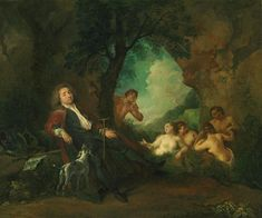 'Porträt von Antoine de la Roque, Jean Antoine Watteau, 1718' von Atelier Liesjes