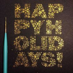 SMASH THE PRESENTS! EAT ALL THE COOKIES! YELL AT YOUR FAMILY!! END UP IN TEARS!!!  A gold painted version of a holiday card I made for @feedprojects a while back. #handlettering #Goodtype #thedailytype #calligritype #typegang #lettering #happyholidays #typography #cxc2015contest by nim_br