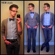 Cardigan and bowtie