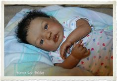Reborn African American baby doll, so lifelike!