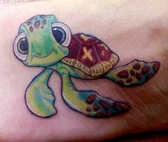 Sea turtle tattoo - Nemo's Squirt -