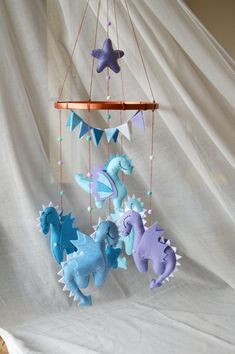 Dragons Blue Gold Baby mobile Dragons mobile Mother of Dragons Game of thrones baby shower mobile Felt toy Dragon Nursery mobile Baby crib Felt Dragon, Baby Dragon, Nursery Themes, Nursery Decor, Nursery Art, Dragon Bleu, Dragon Baby Shower, Dragon Mobile, Dragon Nursery