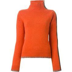 Rag & Bone Sarah Sweater ($678) ❤ liked on Polyvore featuring tops, sweaters, orange top, orange sweater, rag & bone, rag bone sweater and rag & bone tops