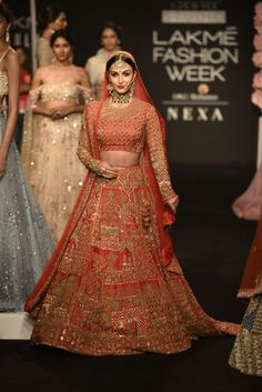 Manoj Agarwal and Monika and Nidhi's Bridal Collections have something for everyone from the traditional bride to the modern bride. Indian Bridal Lehenga, Indian Bridal Outfits, Indian Bridal Fashion, Dress Indian Style, Indian Dresses, Wedding Lehenga Designs, Lehenga Wedding, Punjabi Wedding, Wedding Outfits For Groom