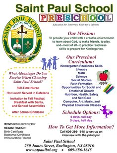 preschool registration flyer google search