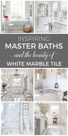 Marble Tile Bathroom, White Marble Bathrooms, Country Interior Design, French Country House, Luxury Home Decor, Bathroom Inspiration, Bathroom Ideas, Home Decor Styles, Nest