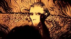 Inspired by two paintings by #vincentvangogh, a #video of sand animation created by Paola Saracini