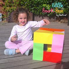 """Un cubo de colores para trabajar la psicomotricidad del libro """"Por cuatro esquinitas de nada""""."""