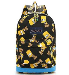 60264db1cb057 Preppy Style High Capacity Simpson Backpack Unisex Graffiti Shoulders Bag  Students Canvas Bagpack  14.22 http