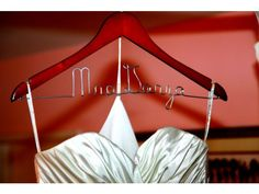 This personalized hanger was one of the many design items found on Etsy.com for the Daniel and Lupita Garza wedding.