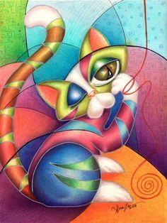 Art: Strings SOLD by Artist Alma Lee