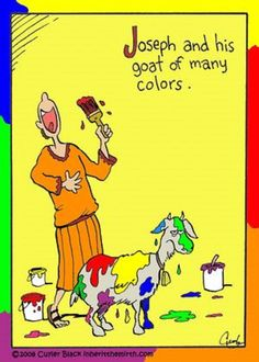 Joseph's Goat of Many Colors  (Cartoon by Inherit the Mirth)