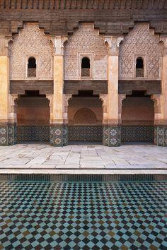 Ali Ben Youssef Medersa (Madrasa)  in Marrakesh, Morocco