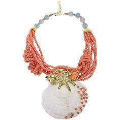 KATERINA PSOMA large shell necklace ($51,620) ❤ liked on Polyvore