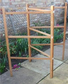 Large antique herb drying rack primitive wooden quilt for Wooden clothes drying rack plans