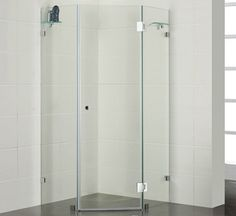 Frameless corner shower from $780 @ Bathroom Warehouse