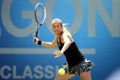6/13/14 Top-Seed Ana Ivanovic def. Klara Koukalova 6-1, 6-4 in the Aegon Classic QFs. to advance.