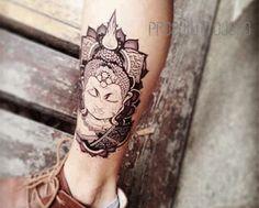 temporary tattoo indian Buddha real Buddhist by prosciuttojojo