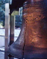 "As inscribed around the top of the bell, Leviticus 25:10 ""Proclaim liberty throughout the land and to all the inhabitants thereof."""