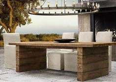 Perfect garden furniture from Restoration Hardware. Please ship or open a store in the UK! Outdoor Decor, Outdoor Patio Furniture, Diy Outdoor, Modern Patio Furniture, Patio Furniture, Outdoor Furnishings, Garden Furniture, Outdoor Furniture Collections, Diy Outdoor Furniture