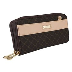 Signature Twin Zip Wallet Organizer by Rioni Designer Purses & Baggage