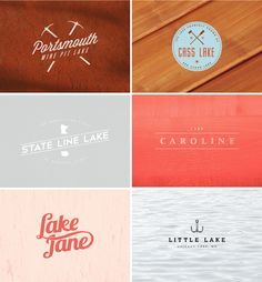 Logos. I like how these logos are simple but have either a bring color or texture that makes them stand out.