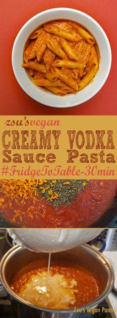 Zsu's Vegan Pantry: creamy vodka sauce pasta