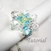 Beaded Flower Of Hearts Ring Tutorial - via @Craftsy