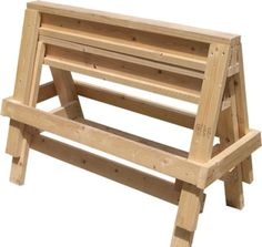 Free Plans to the 7 Ultimate Projects for Woodworkers: Ultimate Wood Sawhorses