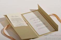 Pocketkort i Guld Inbjudningskort