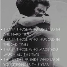 Thank that friend who helped you survive 2017 #friendship #friends #friendshipquotes #sciles #mentalhealth #anxiety #anxietyquotes #depression #2017 #bestfriend #bestfriendgoals