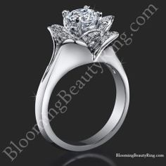 Unique Engagement Rings for Women by Blooming Beauty Jewelry Halo Engagement Rings, Designer Engagement Rings, Lotus Ring, Diamond Clean, Ring Bearer Pillows, Diamond Solitaire Rings, Princess Cut Diamonds, Pink Sapphire, Rose