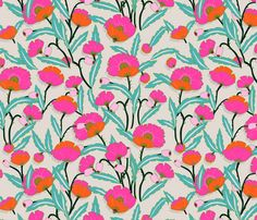 zebrini floral maffa wallpaper by holli_zollinger on Spoonflower  This may be in here somewhere, but i wanted it back up at the top.
