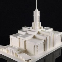 Download on https://cults3d.com #3Dprinting #Impression3D Mt. Timpanogos LDS Temple Model 3D file, TheTempleStore