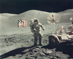 ハリソン・シュミット撮影, アポロ17号の宇宙飛行士ユージン・サーナンのポートレイト Harrison Schmitt, Portrait of astronaut Eugene Cernan, explorer of another world, Apollo 17, December 1972