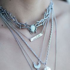 "∘✵∘ Skadi Snow Opal Choker in store now at Shop Dixi ""Skadi is the Goddess of Winter and of the Hunt, of justice, vengeance and righteous anger. She lives in the highest mountains where the snow never melts."" ∘✵∘ ɨƈɛ զʊɛɛռ ɨռ ֆᏆօʀɛ ռօա ∘✵∘ Shop now at www.shopdixi.com ∘✵∘ //  ice queen // shopdixi // boho // bohemian // grunge // choker // winter // moon child // magical // mystic // enchanting // icey"