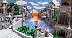 The Grey Havens (The Return of the King final scene) par infomaniac - Come visit us at www.hothbricks.com, www.lordofthebric... & www.brickheroes.com for up to date news about LEGO stuff