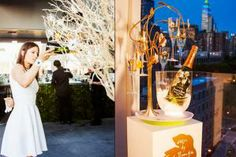 "An enchanted-looking tree drew attention at a rooftop bash for Champagne Perrier-Jouët on June 5. Held at New York's Hotel Americano and produced by Grow Marketing, the event celebrated ""the Enchanting Tree,"" a collaboration between the liquor brand and Dutch industrial designer Tord Boontje."